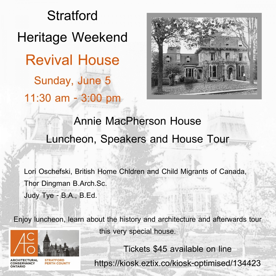 Stratford Perth County Branch Aco Architectural Conservancy Of Ontario Events